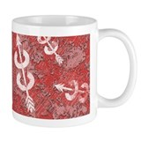 RED Grunge Cross Country Running Small Mugs