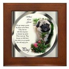 Pug Gifts Framed Tile