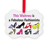 WAITRESS Picture Ornament
