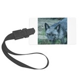 Silver Fox Luggage Tag