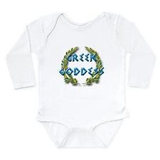 Cute Greek baby shower Long Sleeve Infant Bodysuit