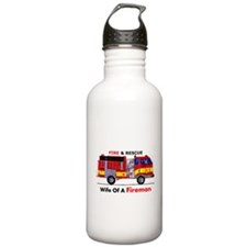 Wife Of A Fireman Water Bottle