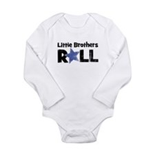 Cute Black star Long Sleeve Infant Bodysuit