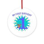 1st Birthday Ornament (Round)