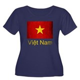 Grunge Vietnam Flag Women's Plus Size Scoop Neck D
