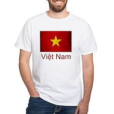 Grunge Vietnam Flag Shirt