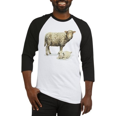 Sheep and Lamb Baseball Jersey