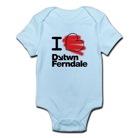 I Heart Downtown Ferndale Infant Bodysuit