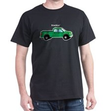 Truckin Black T-Shirt