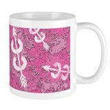 PINK Grunge Cross Country Running Coffee Mug