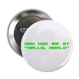 "Hello World 2.25"" Button (10 pack)"