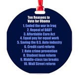 Obama's Accomplishments Round Ornament