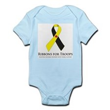 PTSD & TBI Awareness Ribbons Infant Bodysuit