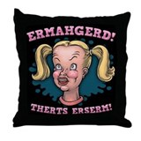Ermahgerd! Therts Erserm! Throw Pillow