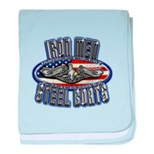 US Navy Submarine Service Steel Boats baby blanket