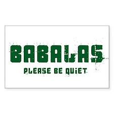 Babalas Rectangle Decal