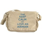 Keep Calm and Love an Airman Messenger Bag