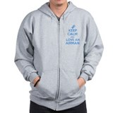 Keep Calm and Love an Airman Zip Hoodie