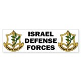 IDF - Israel Defense Forces Bumper Car Sticker