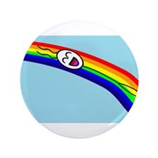 "Sliding down a Rainbow 3.5"" Button"