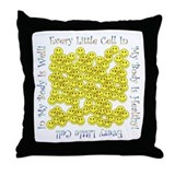 Little Healthy Cells Throw Pillow