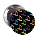 "Cute Gift For Music Teacher 2.25"" Button"