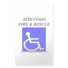 FIRE RESCUE STICKER Rectangle Decal