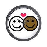 Interracial Love Wall Clock