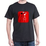 Interracial Love Black T-Shirt