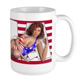 PINUP MUG Large - Girls of the World (USA)