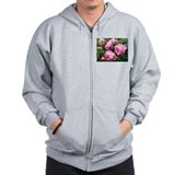 pink roses with raindrops Zip Hoodie