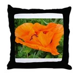 oriental poppy, roter Mohn, Gartenmohn Throw Pillo