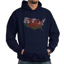 Welsh Place Names America Map Hoodie