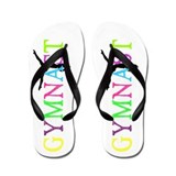 Neon Gymnast Flip Flops