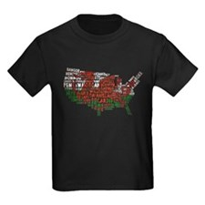 Welsh Place Names USA Map T