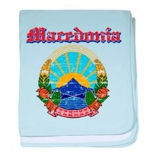 Macedonia Coat of arms baby blanket
