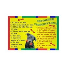 Cute Love my rottweiler Rectangle Magnet