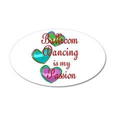Ballroom Passion 20x12 Oval Wall Decal
