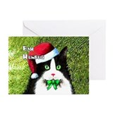 Tuxedo cat Greeting Cards (20 Pack)