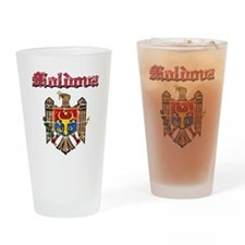Moldova Coat of arms Drinking Glass