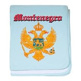Montenegro Coat of arms baby blanket