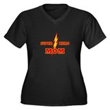 Super Hero Mom Women's Plus Size V-Neck Dark T-Shi