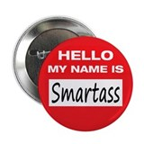 "Smartass Name Tag 2.25"" Button (10 pack)"