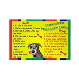 Schnauzer Property Laws 1 Rectangle Magnet (100 pa