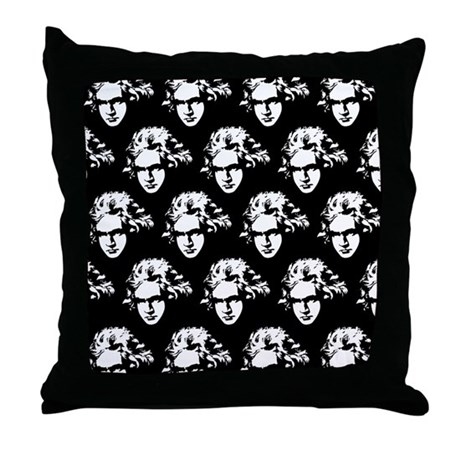 Ludwig Van Beethoven Music Throw Pillow