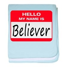 Believer Name Tag baby blanket