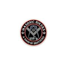 Masonic Bikers Mini Button (10 pack)