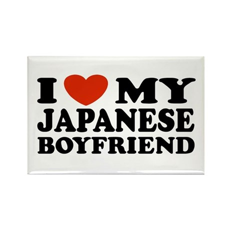 I Love My Japanese Boyfriend Rectangle Magnet