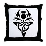 Tribal Thistle Throw Pillow