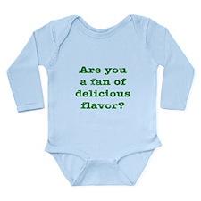 Delicious Flavor Long Sleeve Infant Bodysuit